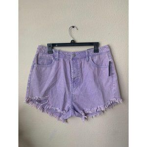 Wild Fable 10 2 Jean Shorts Purple Cut Off  High-